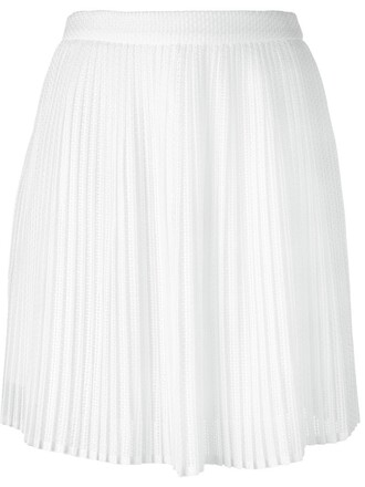 skirt lace skirt pleated lace white