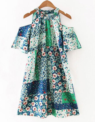 dress floral beach brenda-shop cut off shorts cute outfits day dress vintage vintage dress boho boho dress bohemian mini dress summer