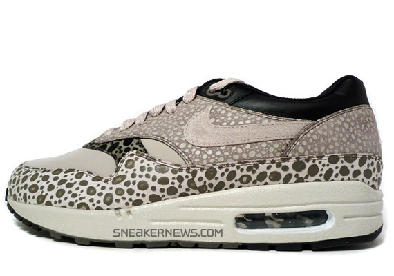 Nike Air Max 1 Premium SP - Pale Grey - Black - Safari Print - SneakerNews.com