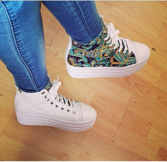 shoes high top sneaker converse timberlands fashion style girly white