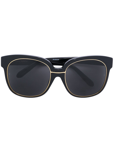 Linda Farrow - frame sunglasses - women - Plastic - One Size, Black, Plastic