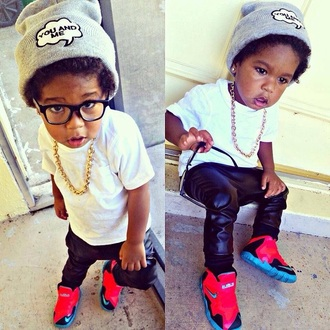 shoes guys fashion hat glasses nerd nerd glasses leather leather pants leather joggers white t-shirt sneakers nike air nike sneakers nike kids fashion kids with swag swag winter swag