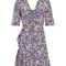 Brodie floral-print zip-through dress