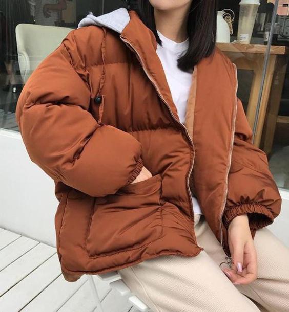 coat girly puffer jacket puff jacket zip zip-up zip up jacket oversized hoodie