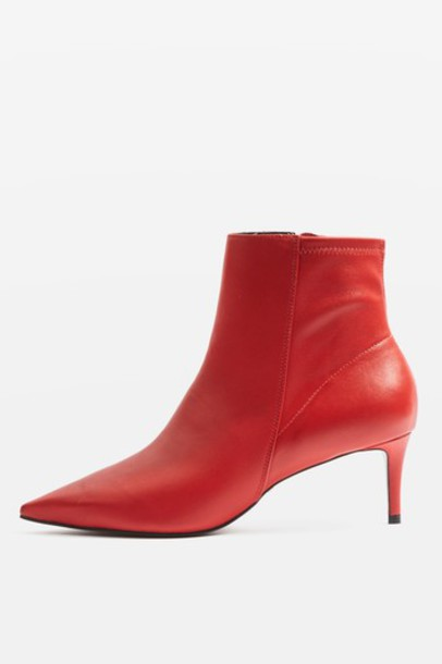 Topshop magic ankle boots red shoes
