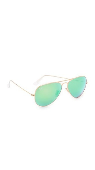 matte classic sunglasses aviator sunglasses gold green