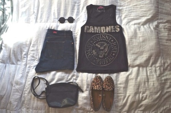 shirt ramones band t-shirt shoes