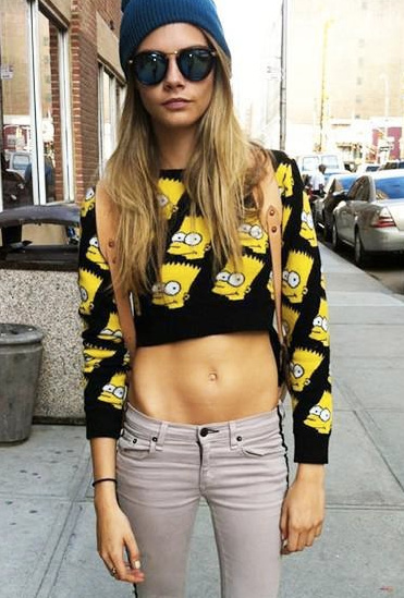 Bart simpson cropped sweater & skirt set · fashion struck · online store powered by storenvy