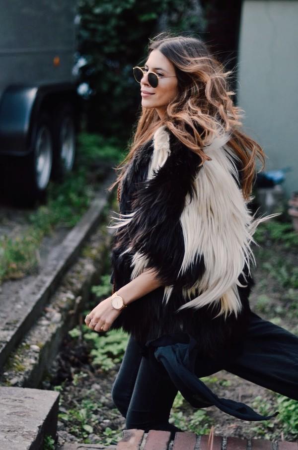 maja wyh blogger jacket jewels scarf