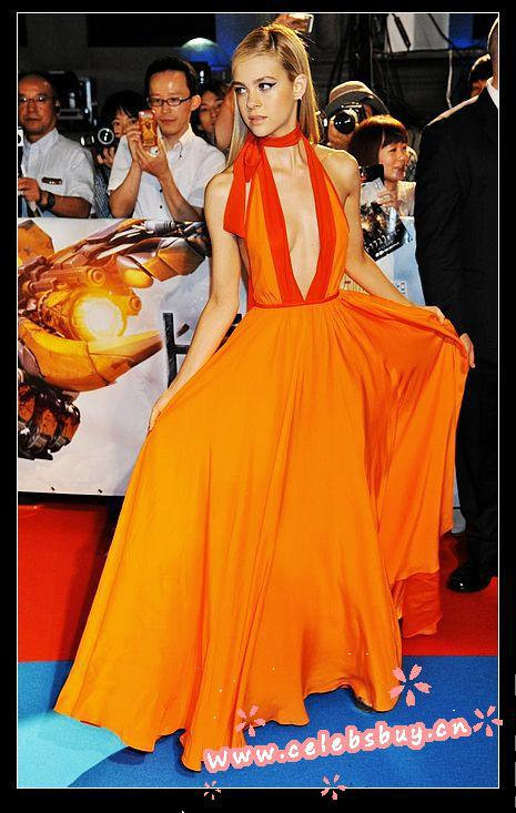 Aliexpress.com : buy nicola peltz orange prom dress transformers age of extinction tokyo premiere from reliable dresse suppliers on celebsbuy cn clothing fashion company