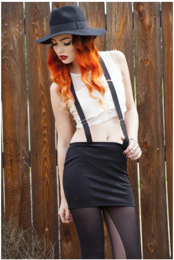 skirt skirt black skirt suspenders suspenders skirt skirt with suspenders grunge hipster hip hop