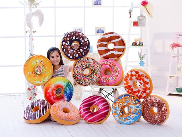 Online Shop Hot Sale Donuts Cushion Pillow Room Bedding Home Deco Office Cushion Pillow Plush Toy Gift