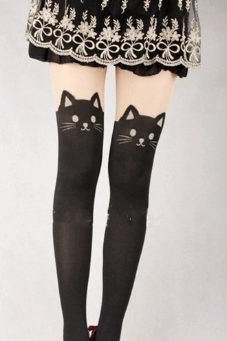 socks cats knee high socks