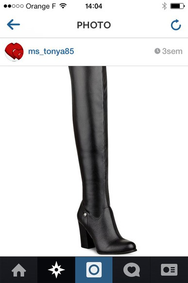 black thigh high boots square heels leather suede boots