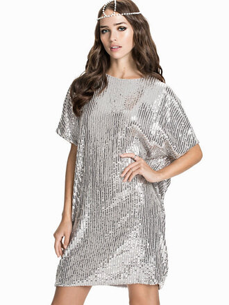 dress sparkly dress silver dress t-shirt dress