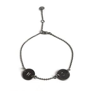 Love Tag armbånd i sortrhodineret sterling sølv - Rhodineret Sølv - Armbånd