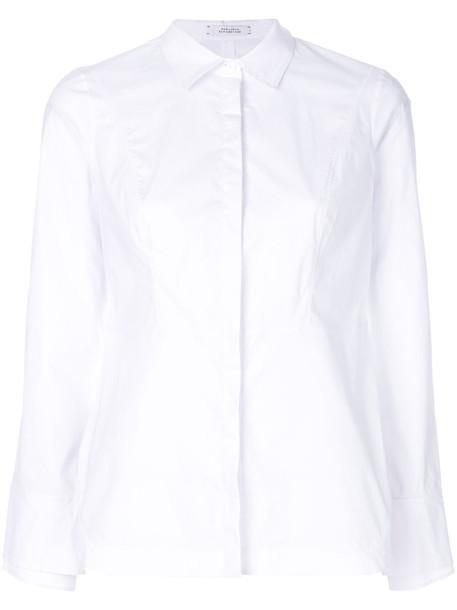 Dorothee Schumacher shirt women spandex white cotton top