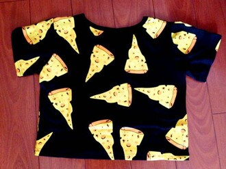 top food pizza crop tops shirt t-shirt