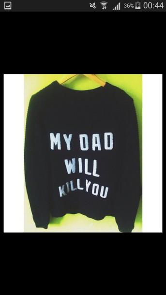 sweater dad black sweater