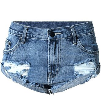 shorts denim jeans ripped shorts cool summer blue fashion style trendsgal.com