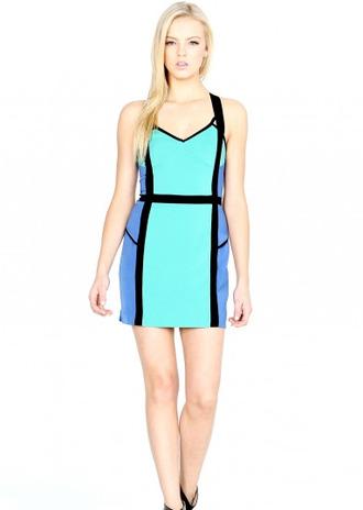 dress colour block colorblock trendy fashion style vanity vanity row mod mini