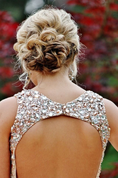pink jewels jewels dress prom dress open back jeweled dress tumblr dress formal dress crystal open back fancy prom sparkle dress