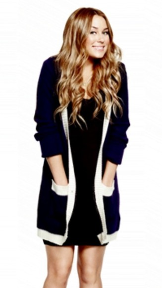 lauren conrad cardigan little black dress