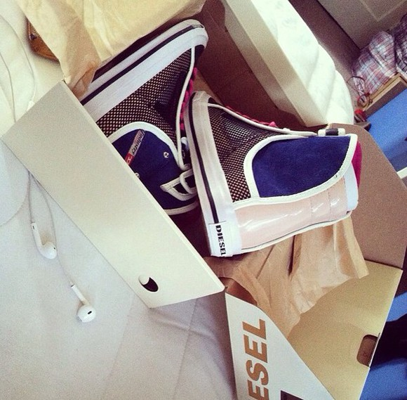 shoes sneakers diesel