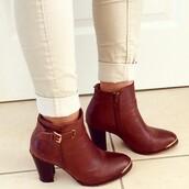 marron,bottines,boots,bottes,shoes