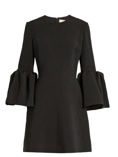 ROKSANDA Hadari bell-sleeved cady dress in black