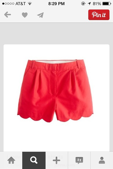 scalloped shorts j crew