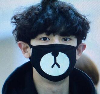 mask mouth mask bear black black and white animal