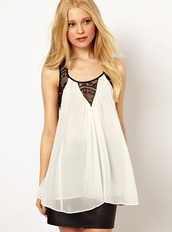 top,vest,bqueen,fashion,girl,chic,sexy,white,ustrendy,lace,flowers,sleeveless,halter neck,swallowtail,chiffon