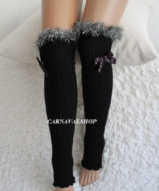 socks leg warmers casual fur socks sexy leg warmers womens clothing black socks girls leg warmers