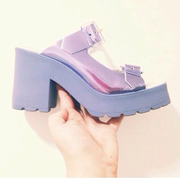 shoes wedge lilac 90's wedge shoes 90's kid 90's shoes
