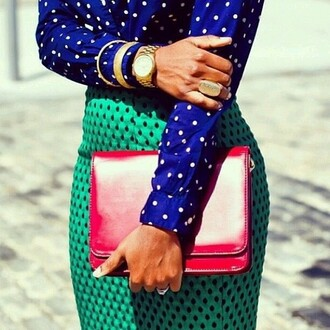 skirt colorful dots turquoise black dots cute skirt classy