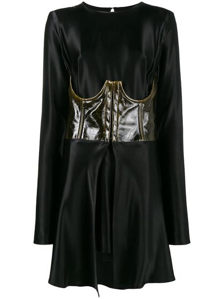 Beaufille dress corset dress mini women spandex black wool