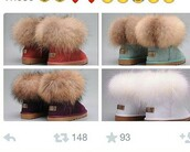 shoes,ugg boots,furry uggs,uggs mini fox fur,white,white boots,ugg austrailia