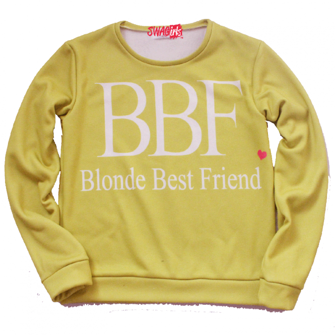Blonde Best Friend fleece sweater - swagirls
