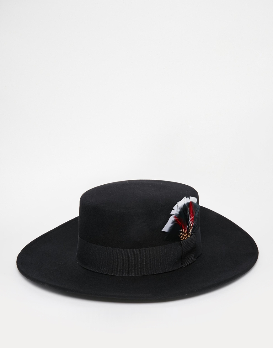 e50ad26996ef15 Catarzi Matador Hat With Feather Band at asos.com