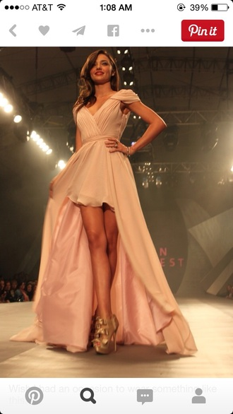 dress prom dress high low dress greek goddess champagne dress