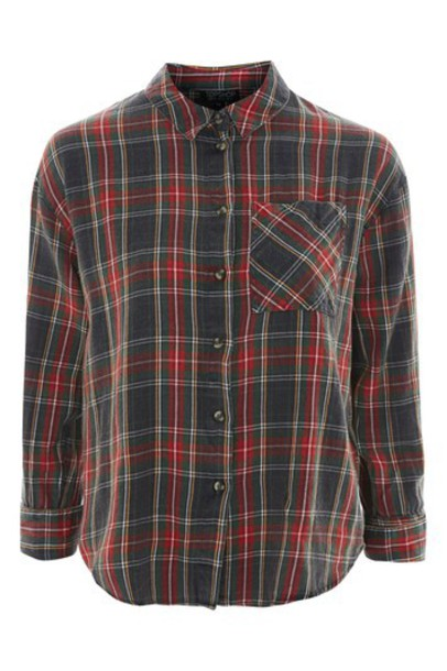 shirt checked shirt grey tartan top