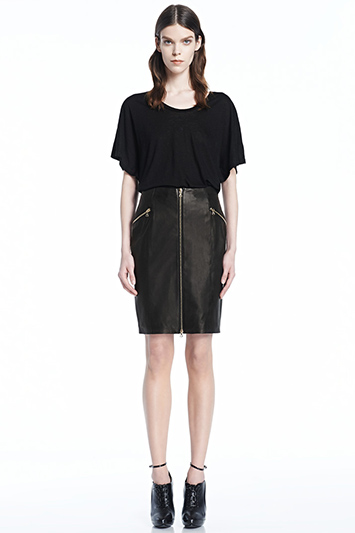 Maxine Leather Skirt | J Brand