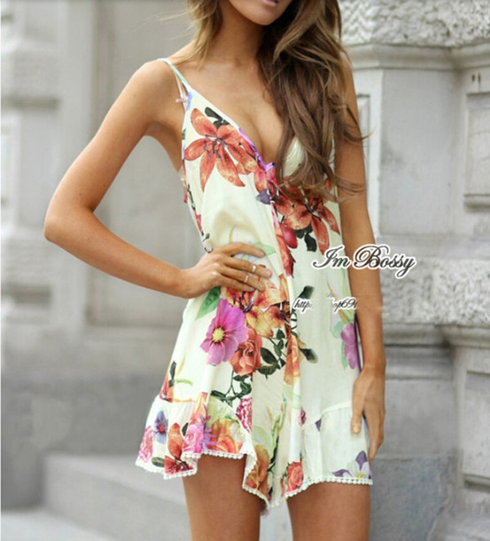 jumpsuit fashion smell print jumpsuit flower jumpsuit jumpsuit jumpsuit printed jumpsuit floral jumpsuit