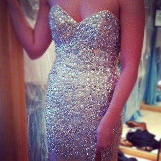 dress sparkle long dress bling bag diamonds pearl