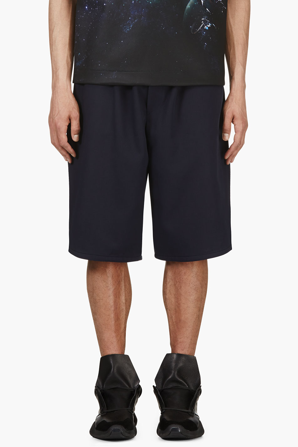 juun.j ssense exclusive navy basketball shorts