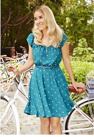 dress polka dots lauren conrad summer dress