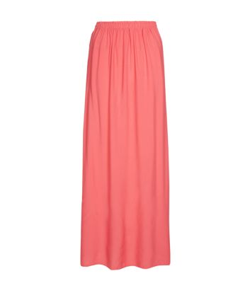147 fashion coral maxi skirt