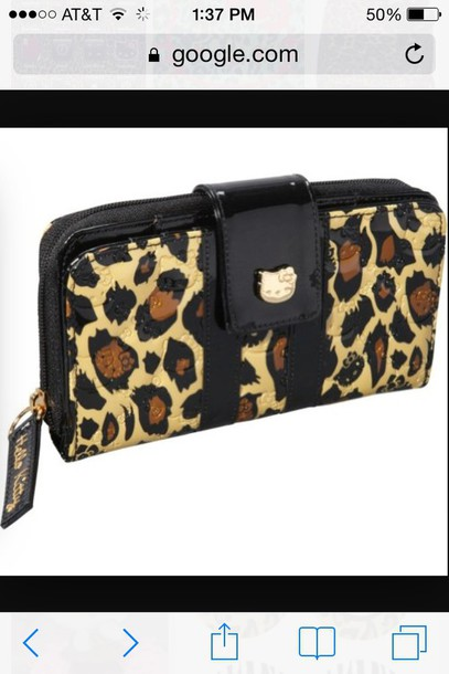 bag hello kitty wallet cheetah print wallet wallet