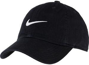 Official Nike New Swoosh Heritage Black Baseball Cap 64427b69e3d